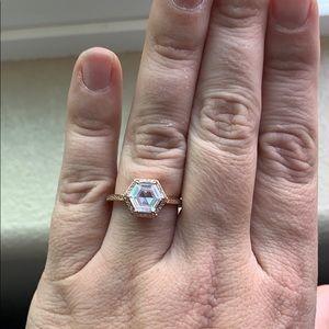 Henri Bendel Rose Gold CZ Ring Size 8.5/9